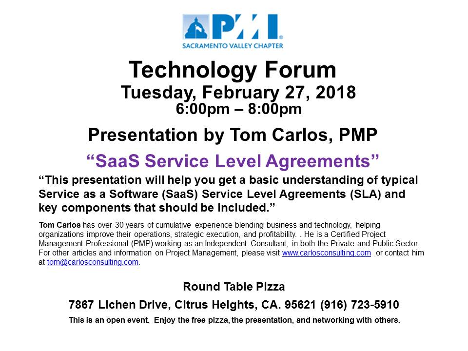 Tech Forum SaaS Service Level Agreements